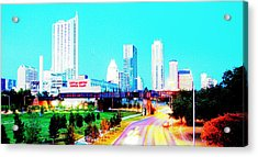 City Of Austin From The Walk Bridge 2 Acrylic Print