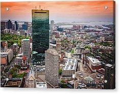 City Of Boston Reflected  Acrylic Print