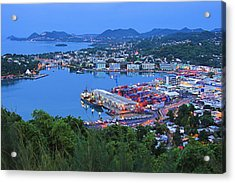 City Of Castries-st Lucia Acrylic Print by Chester Williams
