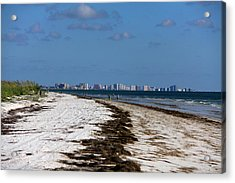 City Of Clearwater Skyline Acrylic Print