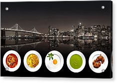Acrylic Print featuring the digital art City Of Cultural Cuisines by ISAW Company