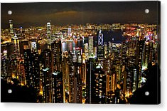 Acrylic Print featuring the photograph City Of Lights by Blair Wainman