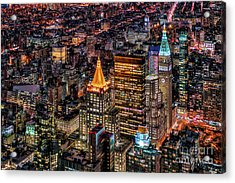 City Of Lights - Nyc Acrylic Print