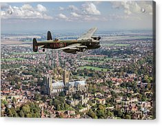 Acrylic Print featuring the photograph City Of Lincoln Vn-t Over The City Of Lincoln by Gary Eason
