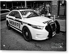 city of new york sheriff department ford police interceptor cruiser vehicle New York City USA Acrylic Print