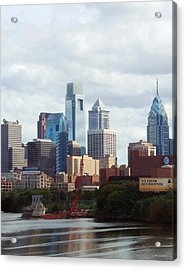 City Of Philadelphia Acrylic Print