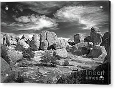 Acrylic Print featuring the photograph City Of Rocks And Sky by Martin Konopacki
