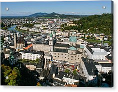 Acrylic Print featuring the photograph City Of Salzburg by Silvia Bruno