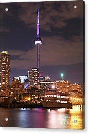 City Of Toronto At Night Acrylic Print by Oleksiy Maksymenko