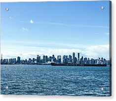 City Of Vancouver From The North Shore Acrylic Print