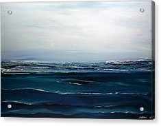 Acrylic Print featuring the painting City On The Sea by Dolores  Deal