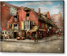 Acrylic Print featuring the photograph City - Pa - Fish And Provisions 1898 by Mike Savad