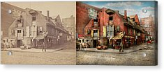 Acrylic Print featuring the photograph City - Pa - Fish And Provisions 1898 - Side By Side by Mike Savad