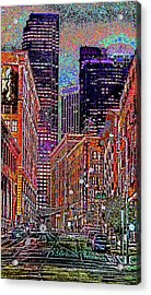 City Perspective  Acrylic Print by Kenneth James