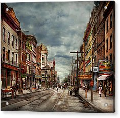 City - Poughkeepsie Ny - The Ever Changing Market Place 1906 Acrylic Print