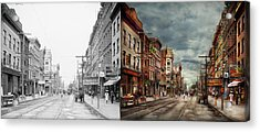 City - Poughkeepsie Ny - The Ever Changing Market Place 1906 - Side By Side Acrylic Print