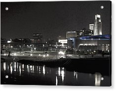 City Reflections Acrylic Print by Tim Perry