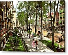 City - Saratoga Ny -  I Would Love To Be On Broadway 1915 Acrylic Print