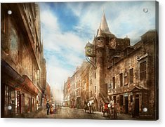 Acrylic Print featuring the photograph City - Scotland - Tolbooth Operator 1865 by Mike Savad