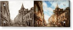 Acrylic Print featuring the photograph City - Scotland - Tolbooth Operator 1865 - Side By Side by Mike Savad