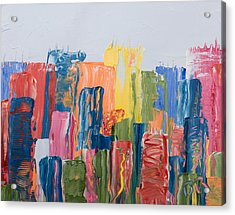 City Skyline 1 Acrylic Print by Brad Rickerby