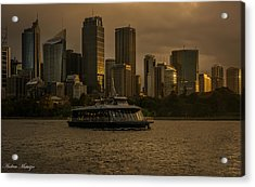 Acrylic Print featuring the photograph City Skyline  by Andrew Matwijec