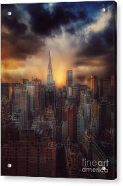 City Splendor - Sunset In New York Acrylic Print
