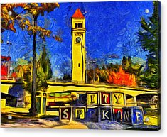 City Spokane - Riverfront Park Acrylic Print