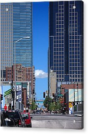 City Street Canyon Acrylic Print by Steve Karol
