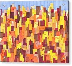 City Sunset Acrylic Print by Jason Messinger