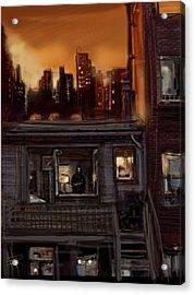 City Sunset Acrylic Print by Russell Pierce