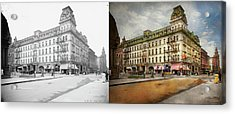 Acrylic Print featuring the photograph City - Toledo Oh - Got A Boody Call 1910 - Side By Side by Mike Savad