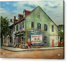 City- Va - C And G Grocery Store 1927 Acrylic Print by Mike Savad