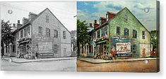 City- Va - C And G Grocery Store 1927 - Side By Side Acrylic Print by Mike Savad