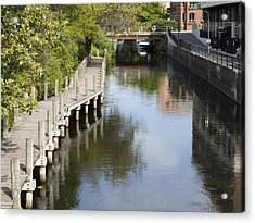 City Waterway Acrylic Print by Tara Lynn