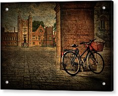 City Wheels Acrylic Print by Evelina Kremsdorf