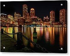 City With A Soul- Boston Harbor Acrylic Print