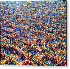 Citypattern Acrylic Print by De Es Schwertberger