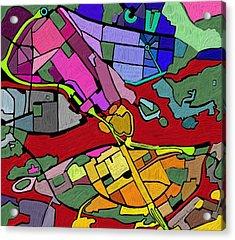 Cityplan#2 Acrylic Print