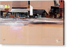 Acrylic Print featuring the painting Cityscape 3 by Anil Nene
