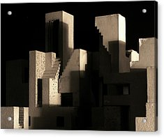 Cityscape 5 Acrylic Print by David Umemoto