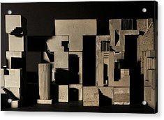 Cityscape 9 Acrylic Print by David Umemoto