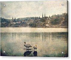 Cityscape Of Lucerna Acrylic Print