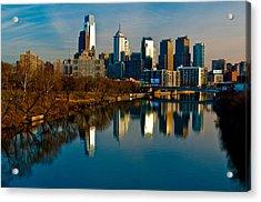 Cityscape Of Philadelphia Pa Acrylic Print