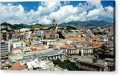 Cityscape Town Of Messina Sicily Italy Acrylic Print by M Morina A Gurmankin