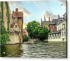 Cityscape Bruges Belgium Acrylic Print