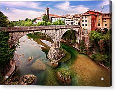 Acrylic Print featuring the photograph Cividale Del Friuli - Italy by Barry O Carroll