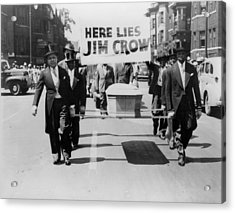 Civil Rights Demonstration In A Naacp Acrylic Print by Everett
