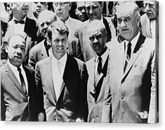 Civil Rights Leaders L To R Martin Acrylic Print by Everett