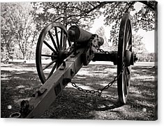 Civil War Cannon Acrylic Print by Edward Myers